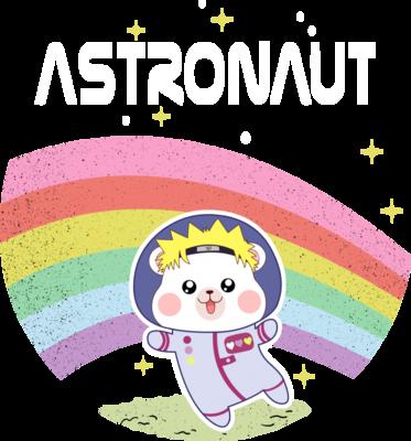 月球上的小熊宇航员