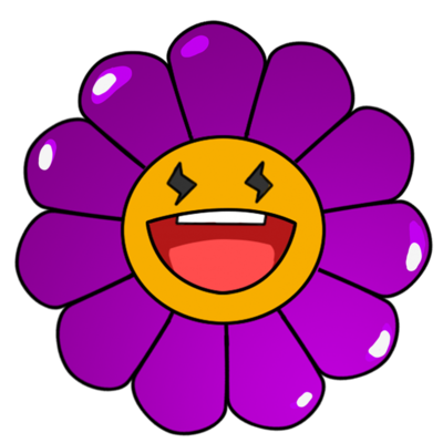 紫色的卡通小雏菊