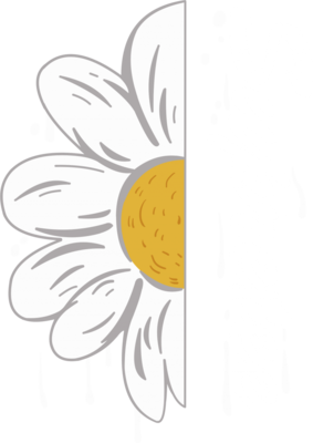 创意花瓣系列半朵花加英文